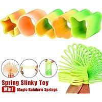 Mini-Regenbogen Dekompressions-Ring, Spielzeug, Mamum, Mini Magic Regenbogen-Federn, Kreise, reizvolles Spielzeug, um die Zeit zu überbrücken (zufällige Farbe)