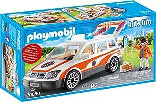 PLAYMOBIL City Life 70050 Notarzt-PKW mit Licht und Sound, Ab 4 Jahren