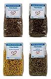 Paleo Spirelli-Nudeln 4er Set (Kastenienmehl, Sesammehl, Leinsamenmehl, Sonnenblumenkernmehl) glutenfrei, sojafrei, wenig Kohlenhydrate
