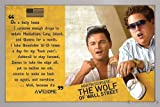 The Wolf of Wall Street Poster Awesome (96,5x66 cm) gerahmt in: Rahmen silber