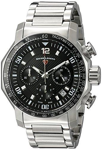 Swiss Legend pour homme 16187sm-11Bleu Geneve Affichage analogique Swiss Quartz Argent montre