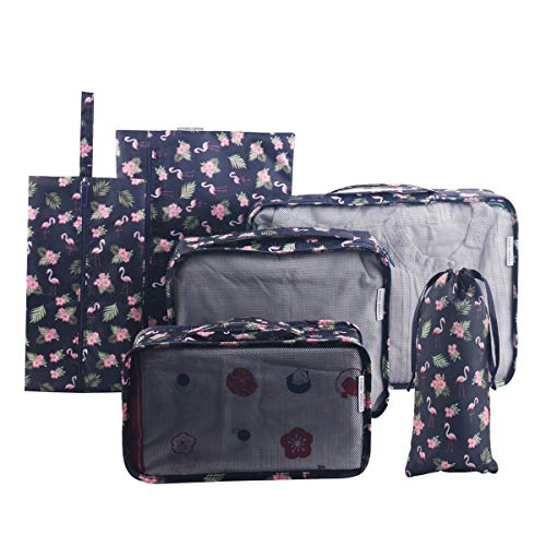 bb19a9691 Tuscall Packing Cube | 6 Piece Travel Packing Organisers Set | Waterproof  Luggage Cubes for Backpack