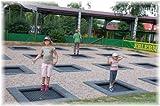 Eurotramp - Kids Tramp Spielplatz Boden Trampolin 1,5 x 1,5 m
