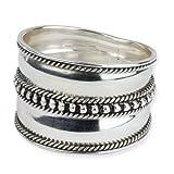 Breiter Silberring Points aus 925er Sterling Silber (60 (19.1))