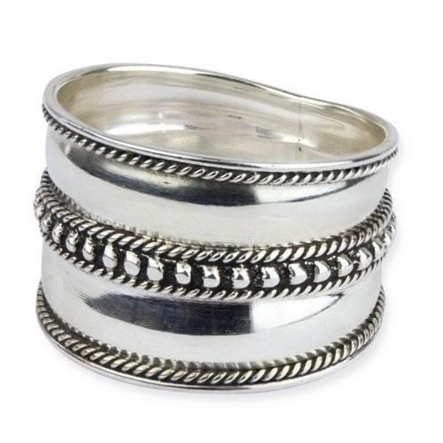 Breiter Silberring Points aus 925er Sterling Silber (56 (17.8))