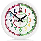 EasyRead Time Teacher Children's Wall Clock with simple 3 Step Teaching System. 29 cm dia, learn to tell the time, ages 5-12.