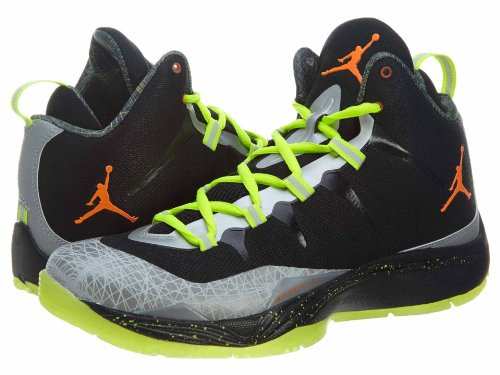 Jordan Super.Fly 2 Textile BasketballSchuh Black/Total Orange/Reflect Silver
