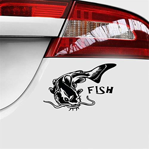stickers pour voiture Autocollant de moto de bateau de pêche de poisson-chat de 14,4 cm * de 9,4 cm pour l'autocollant de fenêtre d'ordinateur portable de voiture