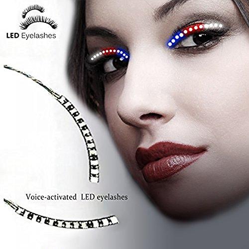 ürlich LED Falschen Wimpern 2017 Heiße Selling Neueste 1 Paar Unisex LED Waterproof Eyelashes für Party Bar Night Club Geburtstag Halloween Make-Up ZubehöR (Halloween-schönen Make-up)