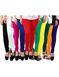 ROOLIUMS ® (Brand Factory Outlet) Women's Leggings Combo (Pack Of 10) 160 GSM, 4 Way - FREE SIZE (Free Size, B...
