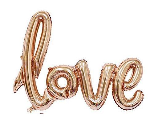 DekoRex® Folienballon LOVE Schriftzug rosegold