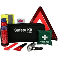 EVAQ8 Advanced Car Safety Kit with Extinguisher and Torch