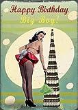 Happy Birthday Big Boy- tarjeta de felicitación por Max Hernn