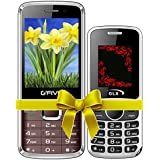 G'Five G9(Coffee)+GLX W5 White COMBO OF TWO Basic Feature Mobile Phone With WIRELESS FM & 1 Year Manufacturer Warranty