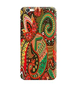 Vivo V5 Plus Back Cover designer 3D Hard Mobile Case printed Cover for vivo v5 plus by Gismo - tribal Pattern Patchwork girl girly