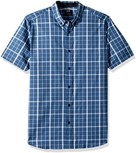 Oakley Herren Local SS Plaid Hemd, Blau (Ensign Blue), Groß -