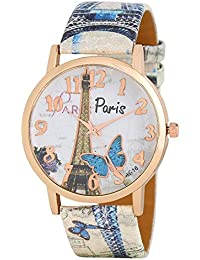 Xforia Stylish Analogue White Dial Girl's & Women's Watch (Multicolor Strap)