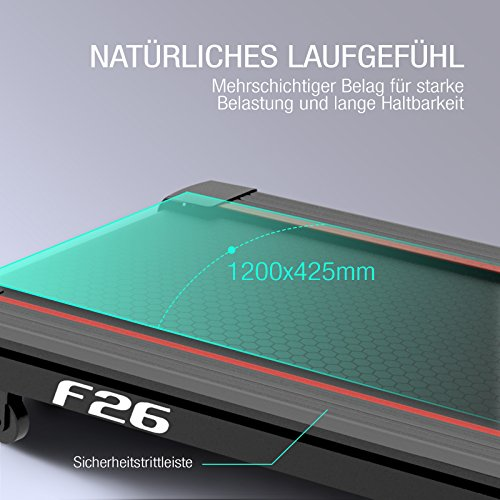 Sportstech F26 & F31 Profi Laufband mit Smartphone App Steuerung Pulsgurt inklusive – kompakt klappbar verstaubar Abbildung 3
