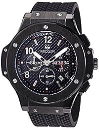 Megir 3002schwarz - Reloj para hombres, correa de goma