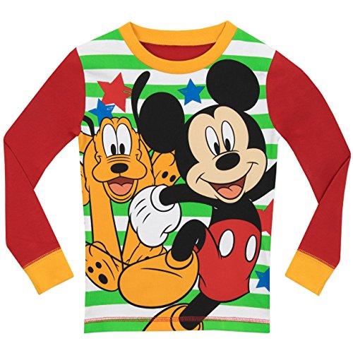 Disney - Pijama para Niños - Mickey Mouse y Pluto - Ajuste Ceñido