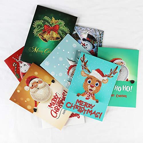 TEAMYO Diamant-Malerei-Gruß-Karte Weihnachten Neujahrswunschkarte Kinder Grußkarte Home Decor