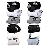 #4: combo pack of puma, adidas and nike socks set of 12 pairs puma logo sports ankel length cotton towel socks