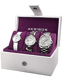 Akribos XXIV Set de 3 relojes AK738SS