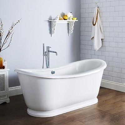 Unsere ansehlichen, freihstehenden Badewannen sind eine perkefte Addition für traditionelle sowie moderne Badezimmer. Unser Sortiment enthält eine Vielfalt an Größen und Formen, um somit jedes Bedürfniss einfach zu erfüllen. Von klassischen bis hin z...