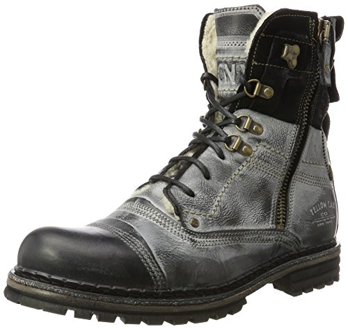 Yellow Cab Herren Sergeant Biker Boots, Schwarz (Black 000), 45 EU