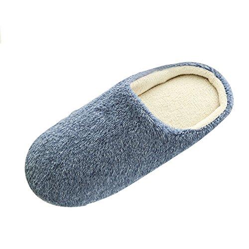 Prettyuk Home Floor Soft Warm Fleece Indoor Washable Comfort Anti-slip Slippers Women...