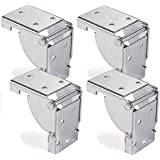 4 x SO-TECH® Mensula plegable para Pata de Mueble Bisagra Consola plegable para Mesa plagable 38 x 38 mm