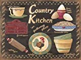 Feeling at home, Stampa artistica x cornice - quadro, fine art print, Country Kitchen cm 40x30
