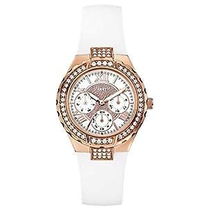 Guess Chronograph White Dial Women's Watch - W0300L2