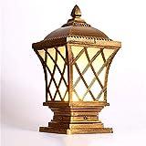 LI XIANG Europea Vintage Esterno Messaggio Lanterna con Luxury Glass coloniale esterna Pilastro Luce for Pilastri Patio Prato Piscine Colonna Terrazze Porta lampada da terra Lampada da tavolo (Colore:
