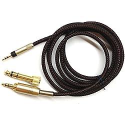 3m NOUVEAU Remplacement Audio Câble de mise à niveau pour Sennheiser HD598 HD558 HD518 Headphones