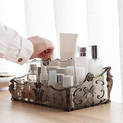 sudalv1971 Fernbedienung Make-up Halter Veranstalter Arbeitsplatte Aufbewahrungsbox Fall Für Home Cosmetics Palette Kaffee