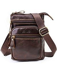 Buyworld New High Quality Men's Vintage Genuine Messenger Crossbody Bag Td Belt Fanny Waist Bag Wallet Belt Pouch...