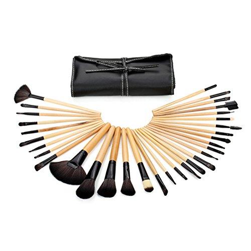 Stück Set Kosmetik Tasche 3 (FantasyDay® Pro 32 Stück Make Up Pinselset mit Schönen Tasche - Professionellen Kosmetik Schmink-pinselset für Foundation Concealer Lidschatten #3)