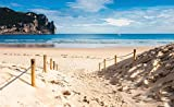 Tapeto Fototapete - Strand Weg Natur See Sand Klippe - Vlies 416 x 254 cm (Breite x Höhe) - Wandbild Meer Pfad