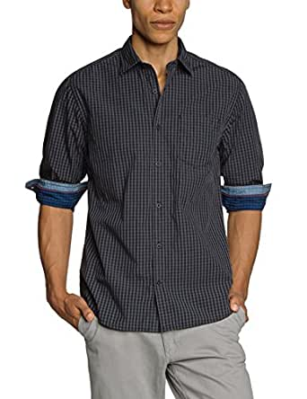 s.Oliver - Chemise casual Homme - 03.899.21.1001 - Noir (black check 99N1) - FR : XX-Large (Taille fabricant : XX-Large)