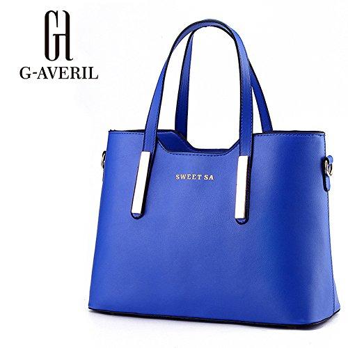 (G-AVERIL) Borsa A Tracolla Borse Donna Borsa Sacchetto In Pelle Cartella Sacchetti blu1