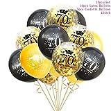 JW-online Taoup 10 20 30 40 50 60 Happy Birthday Cake Topper Hochzeitstorte Dekorieren Zubehör für Kuchen-Geburtstags-Party-Dekor für Erwachsene,70 Luftballons