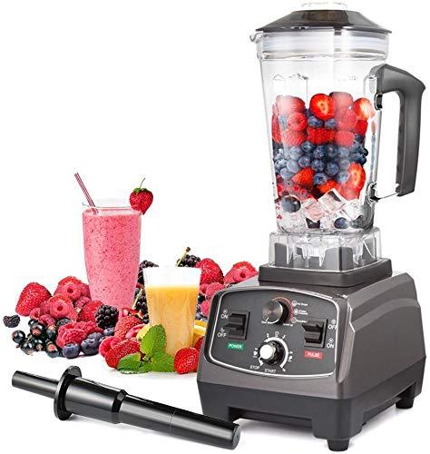 L.HPT Smoothie Maker | Multi Funktion 4 in 1 Blender Machine mit Ice Crusher Grinder & Juicer | Inklusive 2L Jug | 220V | Schwarz (Ice 220v Machine Maker)
