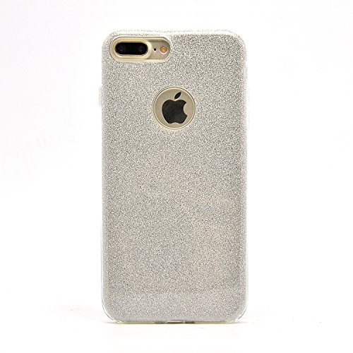 Sunroyal iPhone 7 Plus Bling Laser Sparkling Premium Shining Bling Sparkle Glitter Kristall Crystal Hülle Transparent Durchsichtig Bumper Rahmen TPU Weich Bling Case / Hülle / Tasche Etui Schutzhülle  Pattern 02