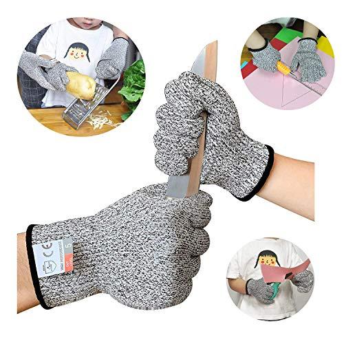 Sinwind Schnitzhandschuhe Kinder, Schnittsichere Handschuhe für Kinder - Leistungsfähiger Level 5 Schutz, lebensmittelecht (XXS(5-8 Jährige))