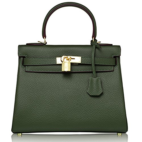 Primo strato in pelle borsa da donna borsa a tracolla Messenger Bag Multiuso MC ta-8030 arancione Orange Dark Green