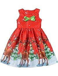 ABCone Bambino Ragazzo delle Neonate Regalo Abito Da Principessa Con  Vestiti Per Bambini Stampa Santa Deer c6515499315