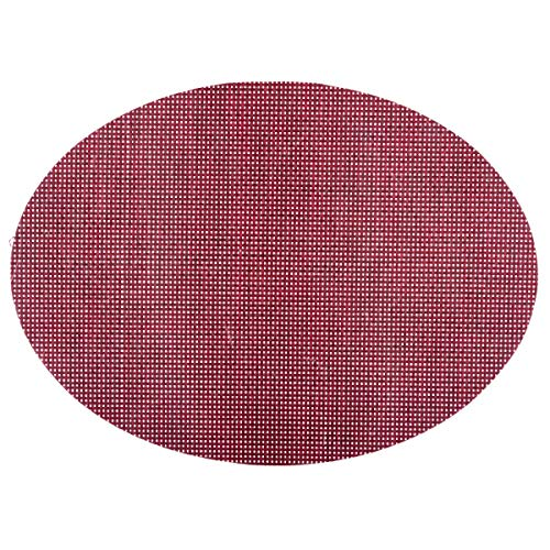 Secret de Gourmet - Set de table texaline oval rouge