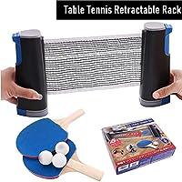 MSYR Juego de Tenis de Mesa retráctil, Juego de Paleta de Ping-Pong Extensible Juega Casi en Cualquier Lugar con Red Extensible, Juego de Bate de Ping-Pong Ajustable para Escuela, hogar