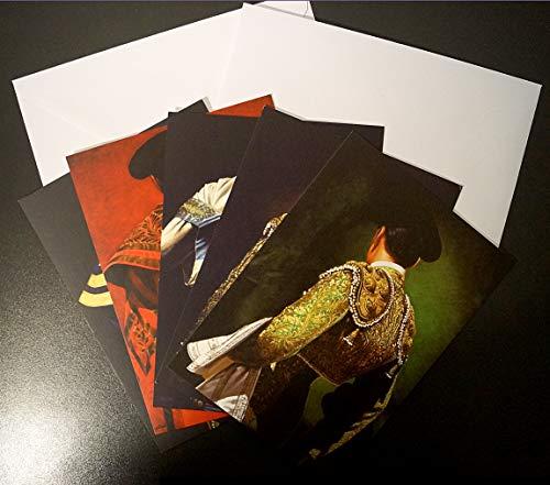 Set mit 5 Taurin-Karten im Format 12 x 17 cm mit Umschlägen: Lichtzubehör, Malerei Christian Gaillard